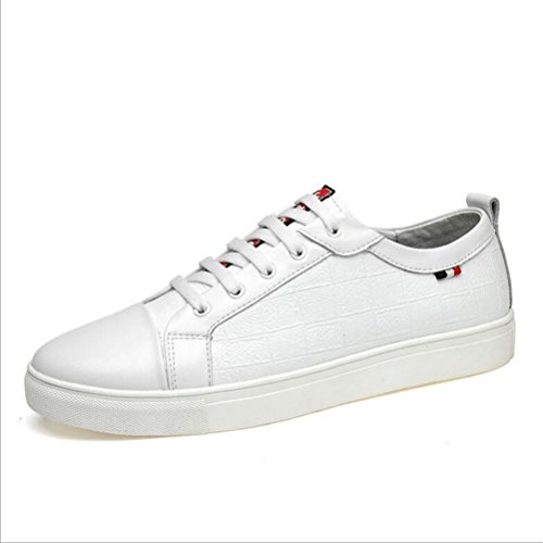 Hommes Casual Chaussures de sport pour hommes authentiques Sneakers Baskets Adultes en cuir unisexe ( Color : White mesh-47 ) White mesh-37