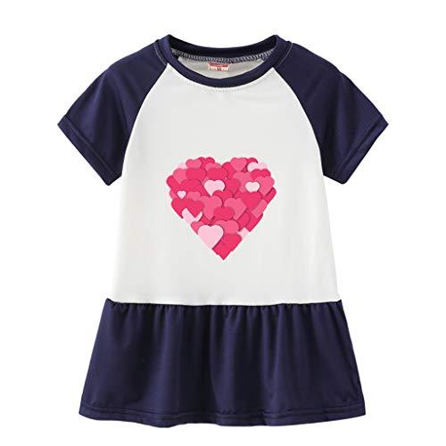 Amphia Mädchen Prinzessin Kleid - Baby-Sommerfrüchten Rüschen Print Prinzessin Sundresses ()