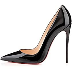 Arc-en-Ciel Damenschuhe Stilett-Absatz spitzen Pumps-black-us9