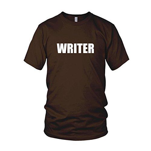 Writer - Herren T-Shirt Braun