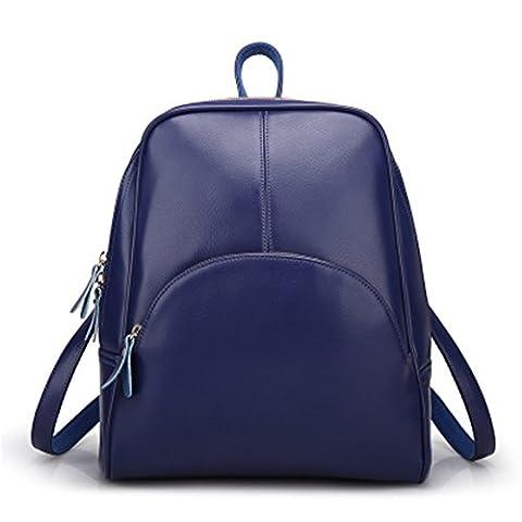 YAAGLE NEU Damen Lässig Rucksack PU Leder Schultertasche wasserdicht Einfach Backpack Schulranzen (Satin Gold Sb)