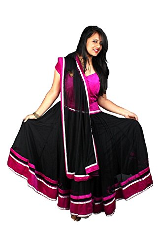 womens-exclusive-designer-party-wear-collection-georgette-black-pink-colored-lehenga-choli-for-girls