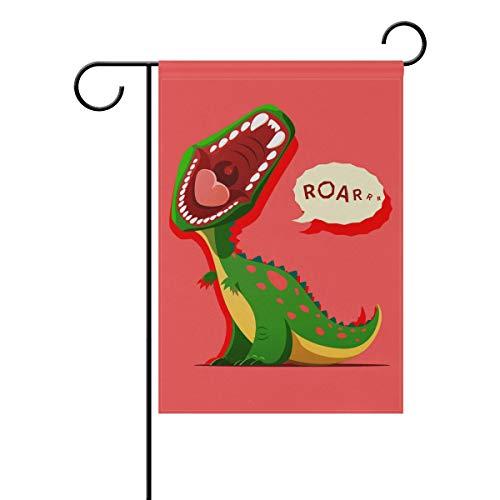 hes Dinosaurier-Heulendes Tier, 30,5 x 45,7 cm, Banner, doppelseitig, für Rasen und Hof, Außendekoration, Polyester, Image 241, 12x18(in) ()