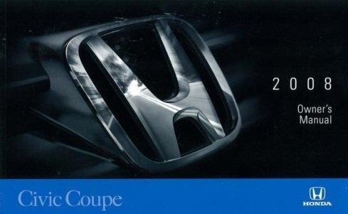 2008 Honda Civic 4 Door Sedan Owner's Manual Original