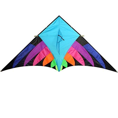 Outdoor Regenbogen Fliegender Drachen Nylon Dreieck Drachen Outdoor Spielzeug Kinder Drachen (ohne Schnur) (Color : Blue ()