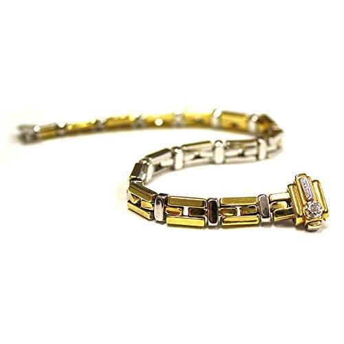 Bracciale Double Chimento bicolore oro bianco e oro giallo1B01290ZBB185