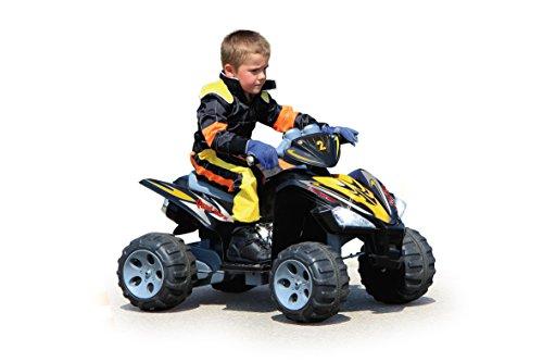 Jamara 404640 - Ride-on Quad 12V - 2-Gang Turboschalter, 12V Akku für lange Fahrzeit, 2 angetriebene Hinterräder durch leistungsstarke 12V Antriebsmotoren & Getriebe,elektronische Differentialfunktion