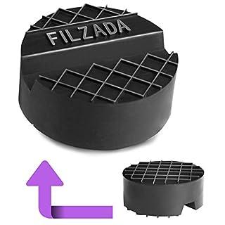 Filzada® Wagenheber Gummiauflage - Universal passend [65mm x 25mm] - Für hydraulische Rangierwagenheber - Idealer Schutz für Ihre Wagenheberaufnahme - mit Nut und Riffelfläche