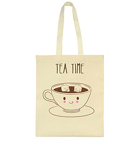 Tea Time Cute Cup Of Tea With Tiny Sugar Cubes Tote Bag