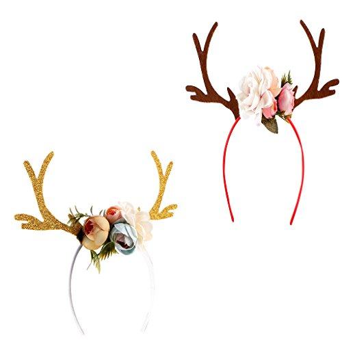 Kid Cute Christmas Deer Geweihe Kostüm Ohr Partei Haar Kopfband Prop (Cute Kid Kostüme)
