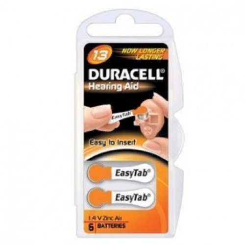 Duracell Hörgerätebatterie Activair 13, 10 Päckchen (6 Batterien)