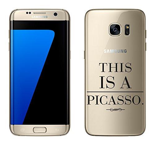 Bass-pinsel (Samsung Galaxy S7 Edge Hülle von licaso® aus TPU schützt Dein S7 Edge 5,5