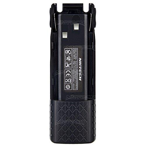Nktech 4200mAh Extended 7.4V batterie Li-Ion pour Baofeng Pofung Uv-82Uv-82hp Uv-8d Uv-82l Uv-82X Uv-82C Two Way radio Talkie Walkie émetteur-récepteur Batteries Accessoires Garantie