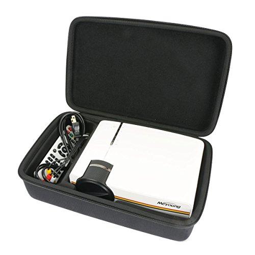 für Mini Beamer, RAGU Z400 Video Beamer Portabel Tragbar Home Entertainment Heimkino LED Beamer 800x480 Auflösung Unterstützt Full HD 1080 EVA Hart Reise Tragetasche Tasche von Khanka