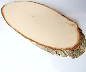 10 Stk Holzscheiben oval 20cm !! Baumscheiben Holz