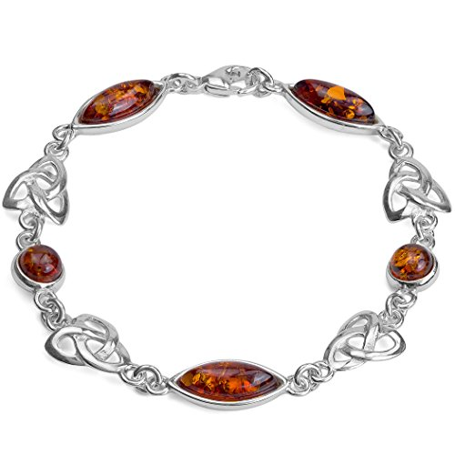 baltic-honey-amber-and-sterling-silver-celtic-love-knot-marquise-shaped-bracelet-7-18cm