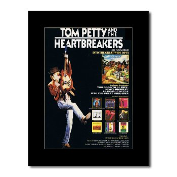 TOM PETTY - Into The Great Wide Open Matted Mini Poster - 28.5x21cm