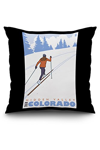 hidden-valley-colorado-cross-country-skier-20x20-spun-polyester-pillow-case-black-border