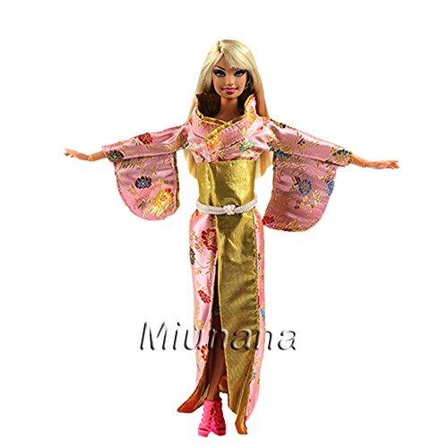 76bea162e Miunana 1 Kimono Vestido Japonesa Disfraz Ropa para Muñeca Barbie Doll