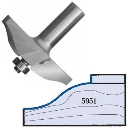 Whiteside Router Bits 5951 Ogee Raised Panel Bit with 2-1/2-Inch Large Diameter and 5/8-Inch Cutting Length by Anchor Fasteners -