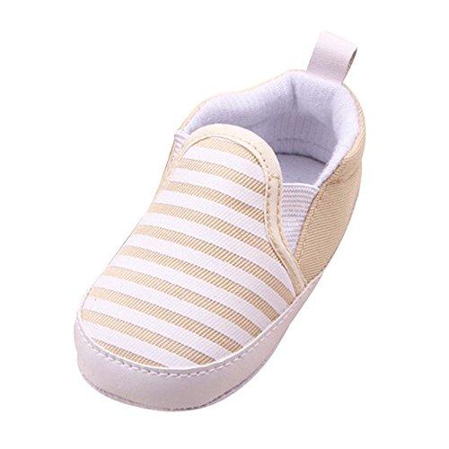 Xmansky Baby Franse Weiche Sohle Krippe Warm Gehhilfe Schuhe Khaki