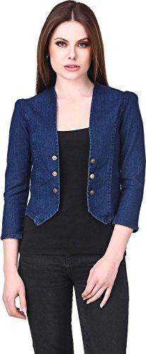 Westa Clothing Women's Denim Shrug(Wcclt006_Navy Blue_Large)