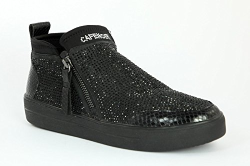 CAFè NOIR sneakers slip on donna zip TESSUTO MULTI NERO NDB926 38