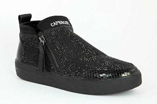 CAFè NOIR sneakers slip on donna zip TESSUTO MULTI NERO NDB926 38