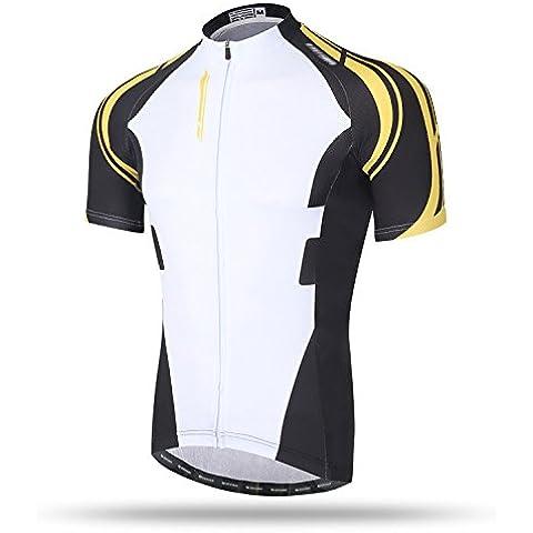 TeyxoCo New Uomini Ciclismo Sportivo Padded Bid Jersey Set M