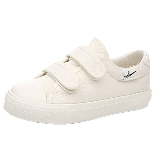 Ohmais Enfants Filles Garçon Chaussure de loisir chaussure de sport souliers Blanc