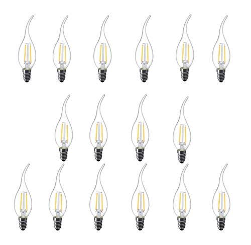 l-hm C35Flamme Spitze LED-Leuchtmittel für Vintage Antik Kronleuchter und Kandelaber 2W 2700K E12Basis (16Stück) -