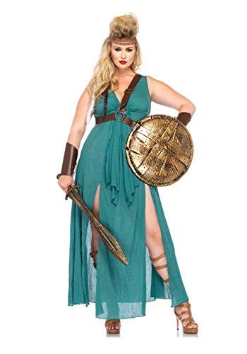 Leg Avenue 85036X - Warrior Maiden Kostüm Set, 4-teilig, Größe 48-50 (3X / Taille 4X), (Plus Halloween Kostüme Size 3x)