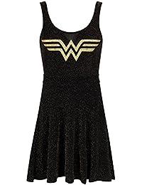 Wonder Woman Women39;s Skater Dress Black