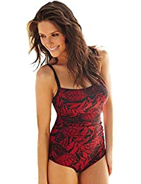 465fa3b42ed RESORT Leaf Print Ruched Side Body Shaping Swimsuit. RRP: £32.