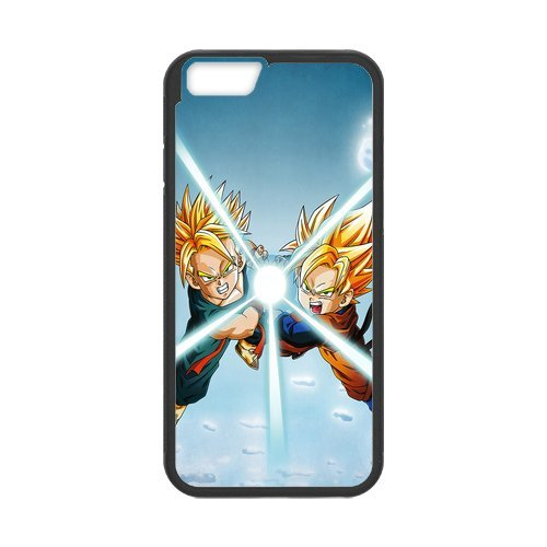 "Dragon Ball Étui en silicone TPU Coque de protection pour iPhone 6 (4,7 ""inch) Étui avec Screen Protector, Mobile Phone Case Back Cover Blanc Noir for iPhone 6 6S (4.7 inch)"