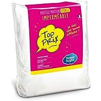 Sweetnight - Protège matelas 90x190/200 cm | Alèse Imperméable | Souple et Absorbant | Bouclette 100% Microfibre | Forme Drap Housse