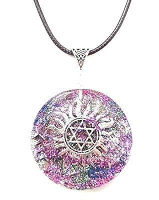 Collier pendentif en Orgonite Etoile de David, pierres, cristaux, Nouvel Age, Reiki