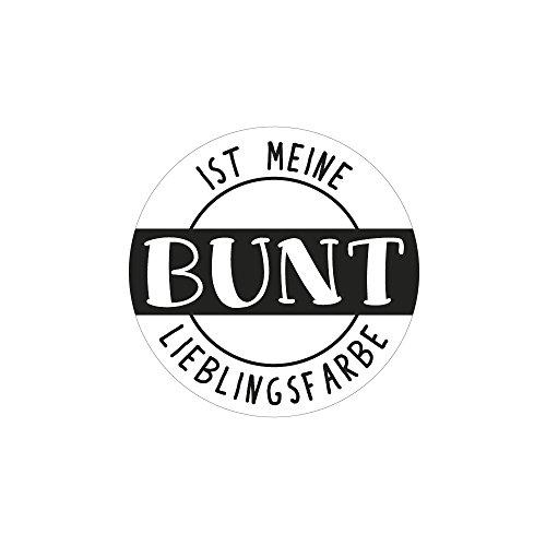 Rayher 34387000 Label BUNT ist Meine, 4,5cm ø