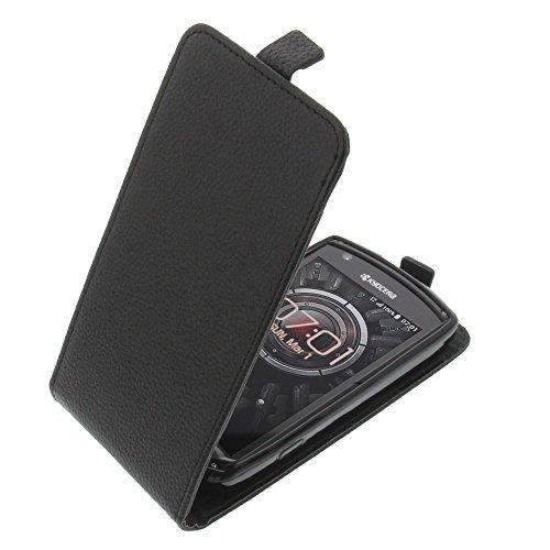 foto-kontor Tasche für Kyocera KC-S701 Torque Smartphone Flipstyle Schutz Hülle schwarz