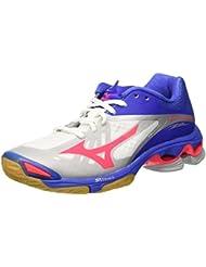 Zapatos Mujer Mizuno Wave Lightning Z2blanco/rosa/azul, Bianco (White/Divapink/Dazzlingblue), 37