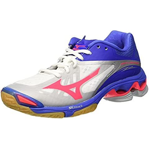 Zapatos Mujer Mizuno Wave Lightning Z2blanco/rosa/azul, Bianco (White/Divapink/Dazzlingblue), 39