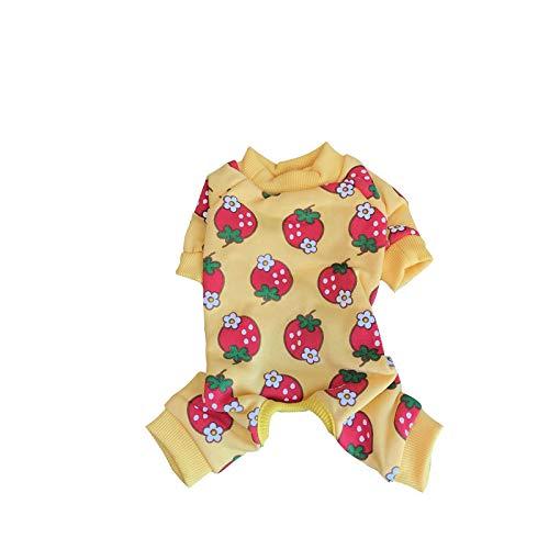 (PZSSXDZW Pet Kleidung vierbeinige Kleidung Baumwolle bis Apple vierbeinige Kleidung Teddy Bear Xiong FA NIU vierbeinige Kleidung)