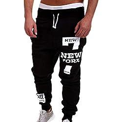 ♚ Pantalones de chándal para Hombre,Pantalones de Moda Pantalones de Hombre Pantalones Casuales Cordón Absolute