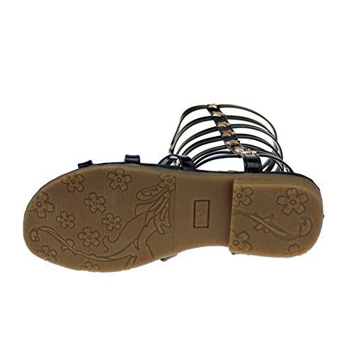 Cixi Maxu E-Commerce.Co.Ltd , Sandales pour fille Noir