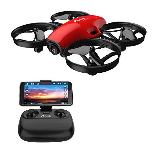 Potensic Drone con Cámara HD, Quadcopter 2.4G 6 Ejes Control Remoto, Altitude Hold, Modo sin Cabeza, Plantear Ruta, Modo de Velocidad, Un Botón de Despegue / Aterrizaje, A30W Rojo