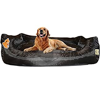 BROWN WATERPROOF EXTRA LARGE LUXURY DELUXE SOFT PET DOG BED SOFA FILLED CUSHION WARM 10