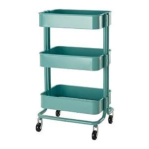 IKEA RASKOG - chariot de cuisine, turquoise - 35x45x78 cm
