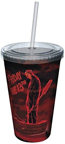 ICUP Friday The 13th You See Jason Was My Son Cup with Straw, Full Color by ICUP