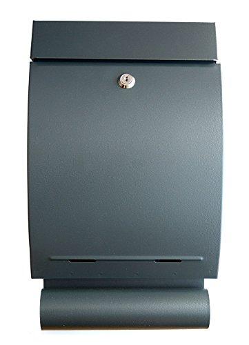 Preisvergleich Produktbild IPRIME Briefkasten mit Zeitungsbox Zeitungsrolle Verzinkter Stahl 41,0 cm x 24,5 Anthrazit matt
