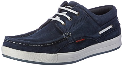 Red Chief Men's Blue Leather Boat Shoes - 7 UK/India (41 EU) (RC1363A 002)